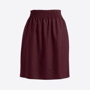 J Crew maroon stretchy wool skirt